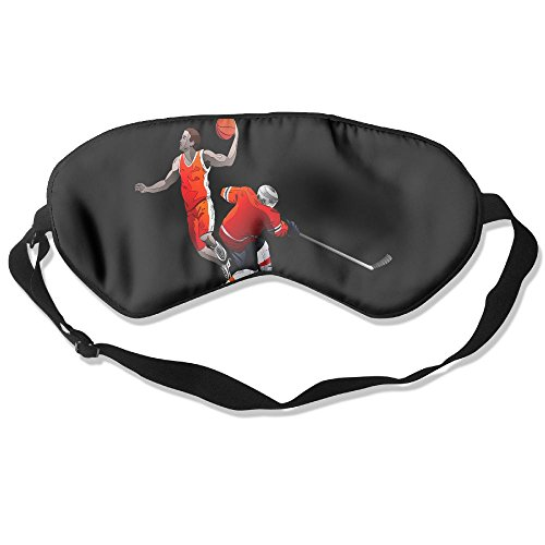Sleep Mask Sport Basketball Eye Cover Blackout Eye Masks,Soothing Puffy Eyes,Dark Circles,Stress,Breathable Blindfold by MB32