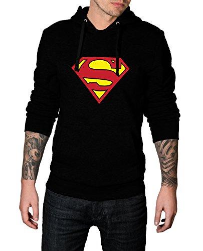 Men Superman S Logo Costume for Halloween 2017 - Cosplay Hoodie | Black, (M&s Superman Costume)