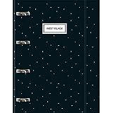 Tilibra Caderno Argolado Cartonado Universitário com Elástico West Village 80 Folhas - 1 un, cores sortidas