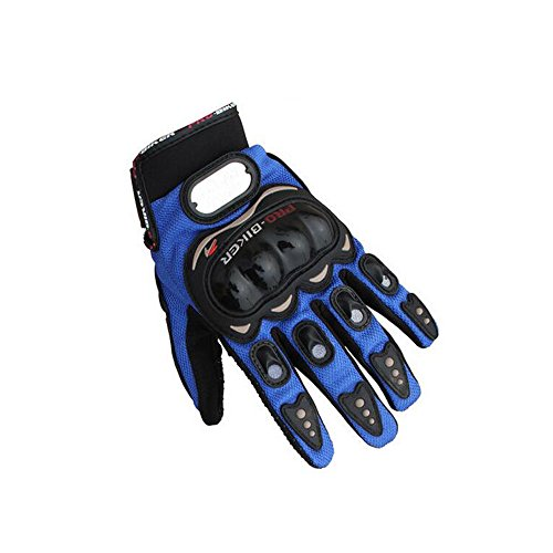 Logas New Polyester Pro-Biker Bike Motorcycle Motorbike Racing Gloves Blue XL