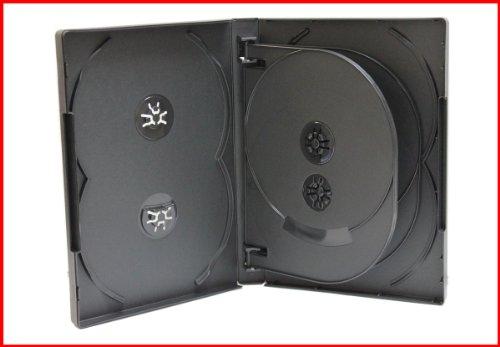 2 Pk New 22mm 8 Discs CD DVD Storage Case Black Eight Tray Overlap Premium Quality Holder Box