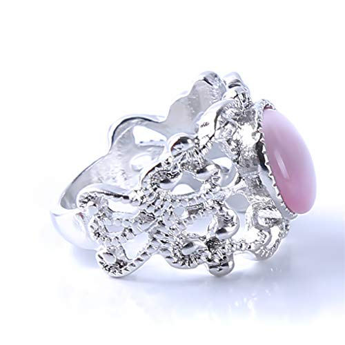 Meolin Women Girls Sparkling Opal Rhinestone Ring Beautifu Floral Rings for Bride Wedding Fine Jewelry Gifts,10# by Meolin (Image #2)