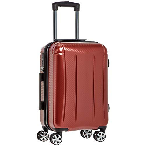 AmazonBasics Oxford Carry-On Expandable Spinner Luggage Suitcase with TSA Lock - 20 Inch, Red