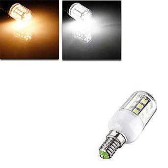 Global E14 LED bulbos 12v 3w 27 smd 5050 blanca cálida luz del maíz/blanco: Amazon.es: Iluminación