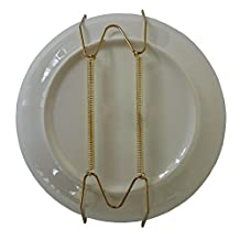 "Xinlink Pack of 5 10-Inch Invisible Plate Display Hanger Wire Expandable Wall Holders for 9"" to 11"" Decorative Tray"