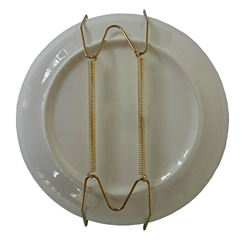 Xinlink Pack of 5 12-Inch Invisible Plate Display Hanger Wire Expandable Wall Holders for 11