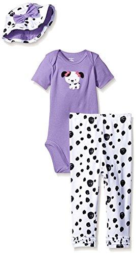 Dalmatian Embroidery (Gerber Baby Three-Piece Bodysuit, Bucket Hat, and Legging Set, Dalmatian, 18 Months)
