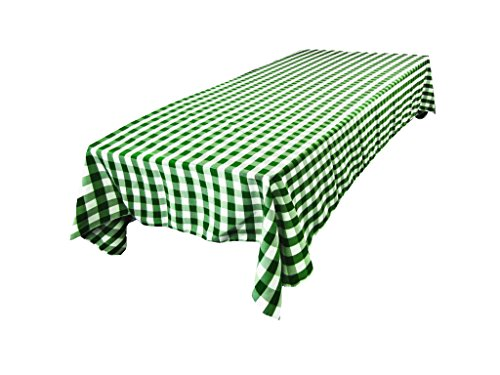 L.A. Linen Polyester Gingham Checkered Rectangular Tablec...