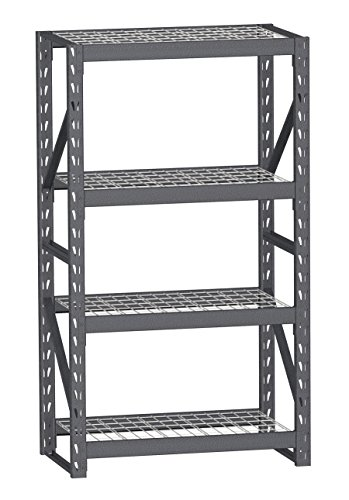 SR-41SL  Split-Level Easy Set-up Industrial Storage Rack, 72 x 41 x 24-Inch, Silver Vein, 500-Pound per shelf Capacity by Mustang Rack