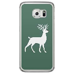 Loud Universe Samsung Galaxy S6 Edge Christmas 2014 Pixel Rouder Printed Transparent Edge Case - Green