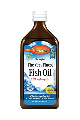 Carlson The Very Finest Fish Oil, Lemon, Norwegian, 1,600 mg Omega-3s, 500 mL