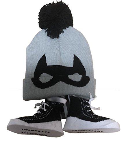Trumpette Baby Boy's Pom-Pom Cuffed Hat and Socks Gift Set 6-12 Months (Socks Boys Trumpette)