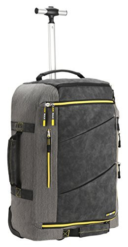 Cabin Max️ Manhattan 2.0 Laptop Backpack with Wheels - Carry On Luggage 22x14x9 6.39lbs - Perfect Fit for American Airlines, United Airlines and Southwest Airlines as well as Many Others!