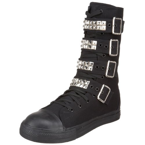 Pleaser Mens Tyrant 203-st Veterschoen Zwart Canvas