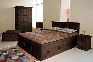 Bett 200 x 200 \'Hacienda Mojito\' Schlafzimmer Pinie massiv Holz ...