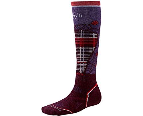 Smartwool Women's PhD Ski Medium Pattern Socks (Aubergine) Small