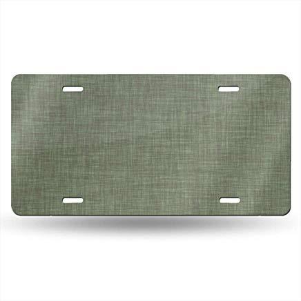 Sage Linen Funny License Plate Frame Cover,Metal