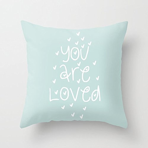 You Are Loved Pillowcasr Nursery Pillow Cover Throw Cute Quote Pillow Cover Decorative Pillows Covers Pillow Case Cushion Cover - Gift Dummies For Wrapping