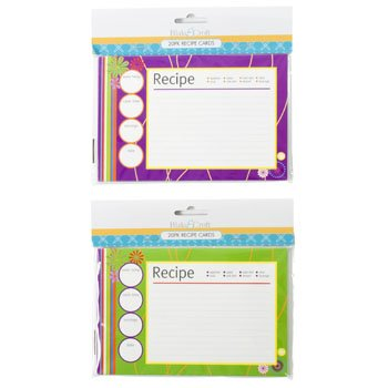 RECIPE CARDS 20CT 2AST PRINTS B&C PBH/12PC MDSG STRIP, Case Pack of 48 by DollarItemDirect