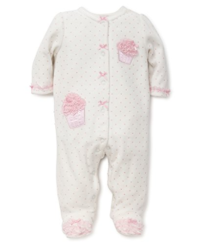 Little Me Baby Footie, Cupcake Ribbon New, 3 Months