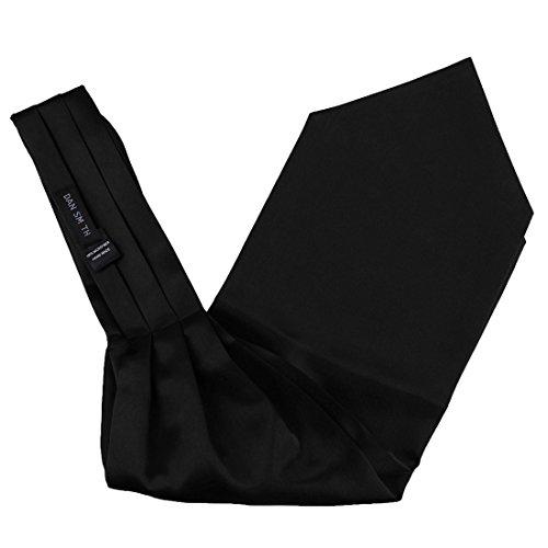 Black Ascot For Men Stain Solid Mens Cravat Evening Designer Business Boyfriend Dan Smith DRA7E01K