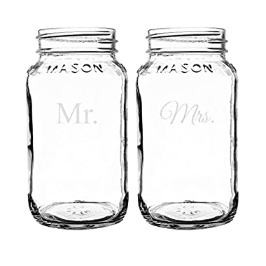 Cathy's Concepts Mr. & Mrs. Mason Jars Set