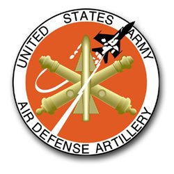 United States Army Air Defense Artillery Seal Decal Sticker 3.8