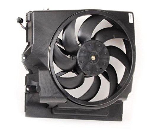 A-C Condenser Fan Assembly - Pacific Best Inc For/Fit BM3113106 92-95 BMW 3-Series 4Cy 92-99 6Cy 323i Condenser Cooling Fan