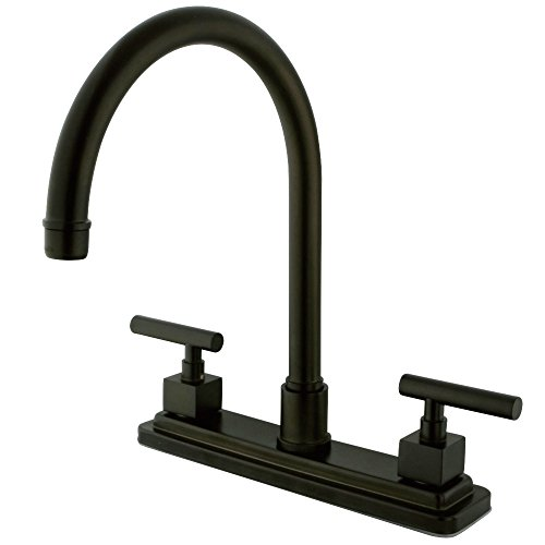 Kingston Brass KS8795CQLLS Claremont 8-Inch Kitchen Faucet without Sprayer, Oil Rubbed Bronze