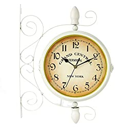 Ruzida Classic Wall Clock Double Sided Vintage Retro Home Office Decor