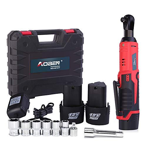 Cordless Electric Ratchet Wrench Set, AOBEN 3/8