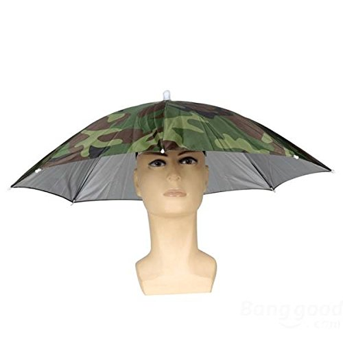 mark8shop plegable Sun paraguas pesca senderismo Golf Camping Gorros Gorro Cabeza Sombreros al aire libre: Amazon.es: Deportes y aire libre