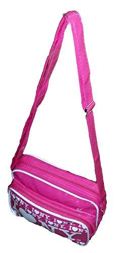 Purse I With Repeat Retro Crossbody LOVE Pink NYC Print Bag Small NY Handbag qBUnTwzTx