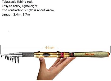 2.7-6.3M Carbon Fiber Telescopic Fishing Rods Travel Pole Sea Pier Freshwater