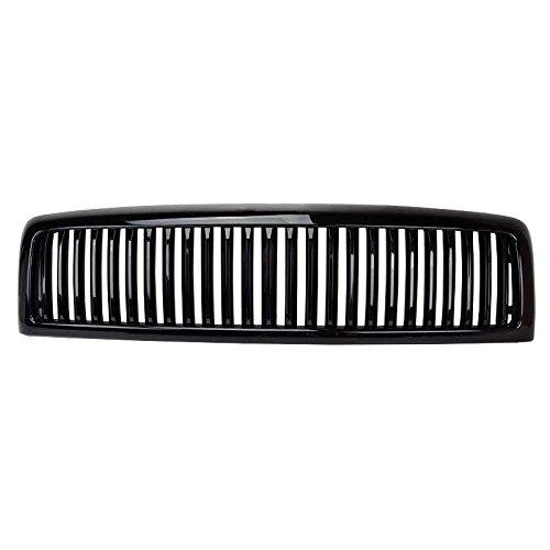Viogi Fit 94 98 Dodge Ram Pickup 99 01 1500 Non Sport 99 02 2500 3500 Non Sport 1pc Abs Plastic Black Hood Upper Badgeless Vertical Style Grille