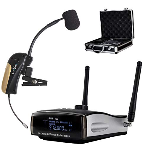 Nady Satellite SMHTA-100 | 100-Channel True Diversity Wireless Instrument System for Horns, Woodwinds - Portable AA batteries operation - Includes metal carrying case.