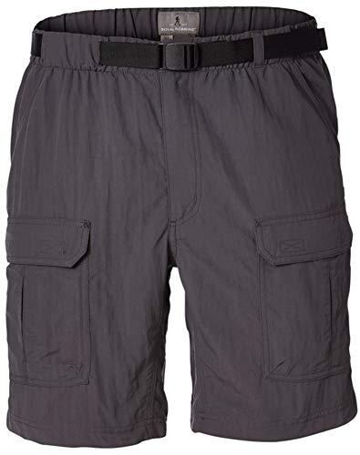 Royal Robbins Men's Backcountry Shorts, Asphalt, Large