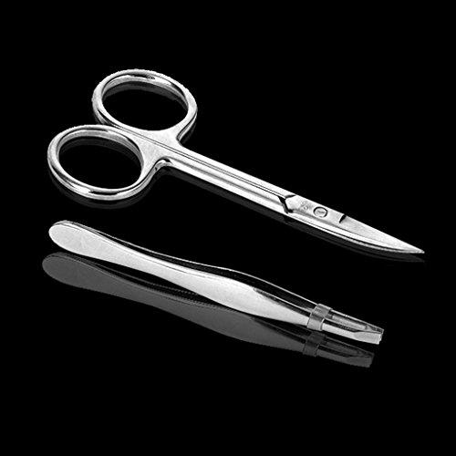 EKIND 3.5 Inch Scissor and Tweezers Tool Kit Set For Metal Model, (Metal Tool Kit)