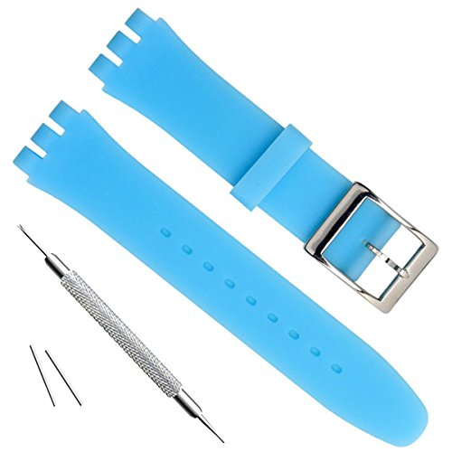 light blue silicone watch straps - 9