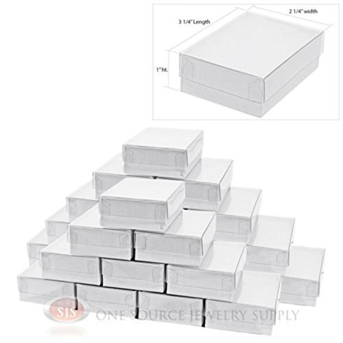 Clear Top Gift Box (25 New White Clear View Top Gift boxes 3 1/4
