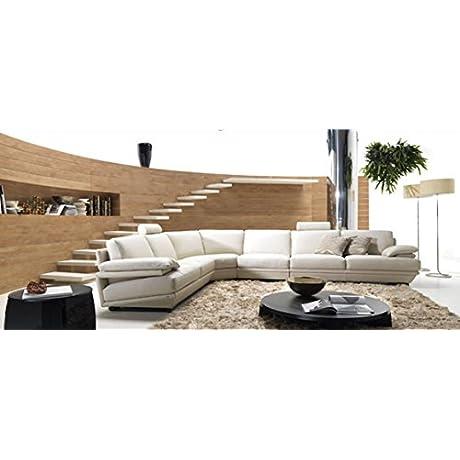 Divani Casa Ozia Modern Grey Leather Sectional Grey Grey