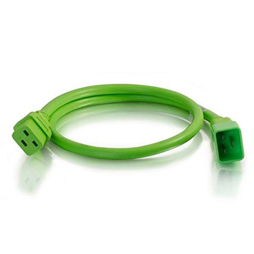 C2G//Cables to Go 17753 C19-C20 Power Extension 12awg 10ft Green