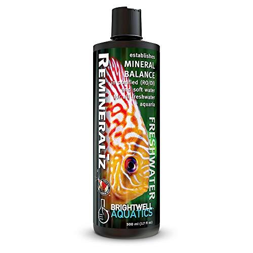- Brightwell Aquatics 17 fl. oz. Remineraliz Balances Minerals in Purified or Soft Water Liquid Form, 500 mL