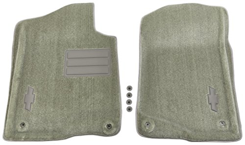 GM Accessories 17800402 Front Carpeted Floor Mats in Titanium with Bowtie Logo