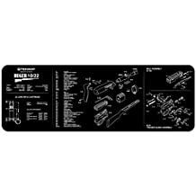 TekMat 12-Inch X 36-Inch Long Gun Cleaning Mat with Ruger 10/22 Imprint, Black