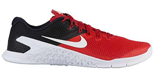 Nike Metcon 4, Zapatillas para Hombre Multicolor (University Red/Black/White 001)