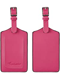 Synethic Leather Luggage Bag Tags (Red 2250 Rose Red)