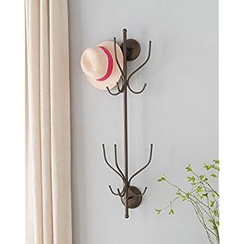 Amazon.com: E-Goal Árbol de madera perchero de pared montado ...