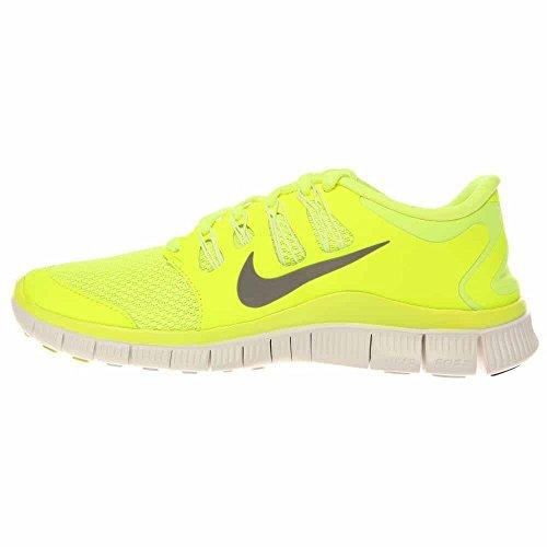 Nike Vrouwen Wmns Gratis 5.0, Volt / Md Bs Grijs-smmt Wit-brly Vl, 10,5 M Ons