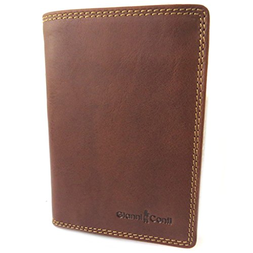 Leather wallet 'Gianni Conti'cognac - 14x10x2